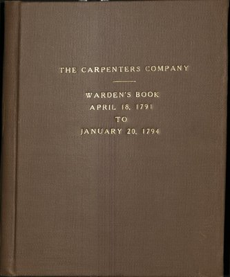 Carpenters' Company Minutes, 1791 - 1794.jpg